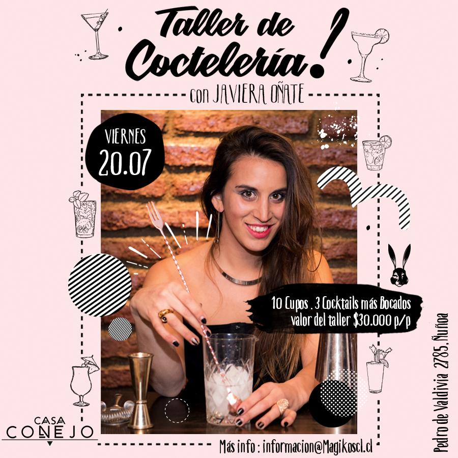 Taller de Coctelería · 20 de julio