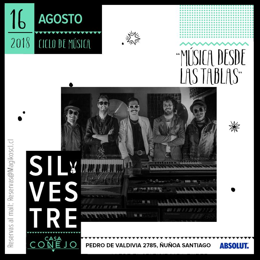 """Ciclo """"Música desde las tablas"""" · 16 de agosto"""